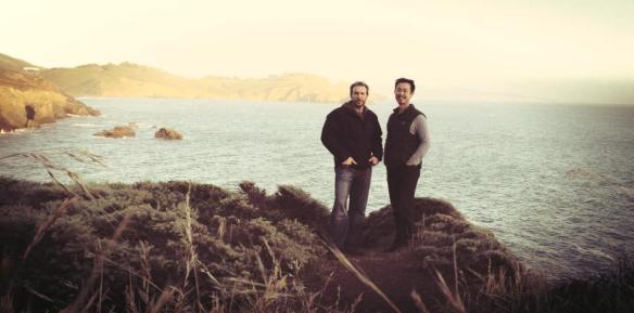 Sifu Paul Wang with Dai Sifu Klaus Brand at 2014 Spring Camp in the Marin Headlands, California.